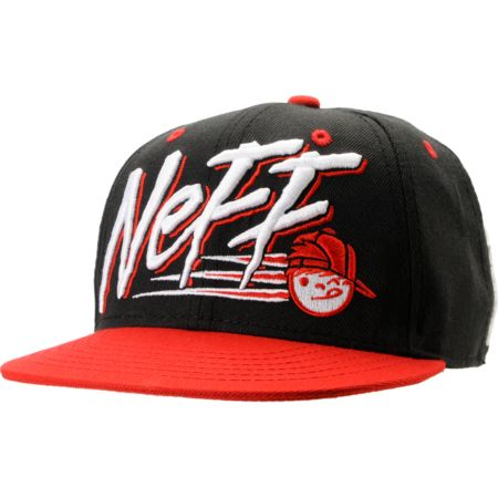 Neff Dash Black & Red Snapback Hat