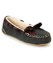 Rocket Dog Girls Regan Twinnings Tweed Slippers