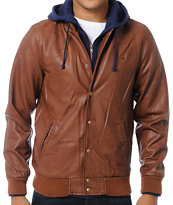Obey Varsity Legend Brown Hooded Jacket