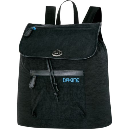 Dakine Sophia Black Crinkle Tote Backpack
