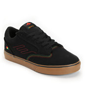 Emerica Jinx Black & Rasta Canvas Skate Shoe