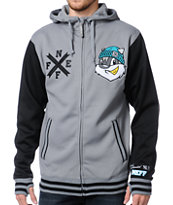 Neff Frosh Charcoal & Black Varsity Tech Fleece Jacket