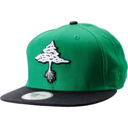 LRG Classic Tree Green & Black New Era Snapback Hat