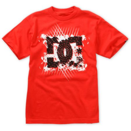 DC Boys Webber Red Tee Shirt