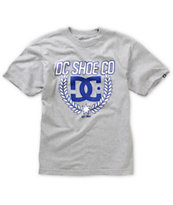 DC Boys Shield Heather Grey Tee Shirt