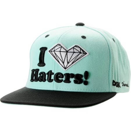 DGK x Diamond Supply Co. I Heart Haters Mint Snapback Hat