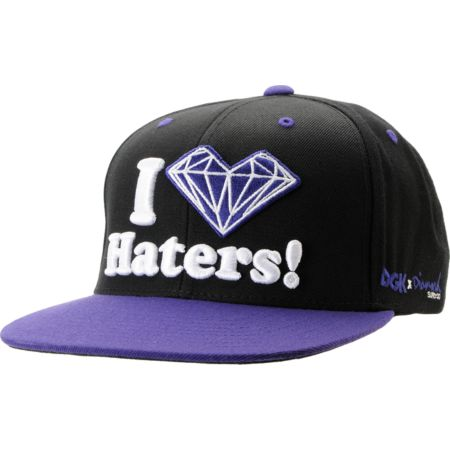 DGK x Diamond Supply Co. I Heart Haters Purple Snapback Hat