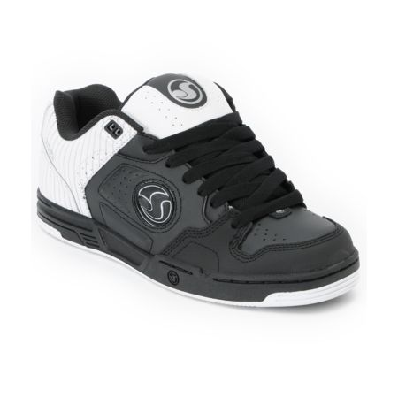 DVS Havoc Black & White Pinstripe Skate Shoe