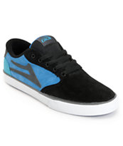 Lakai Pico Black & Blue Suede Skate Shoes