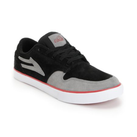 Lakai Carroll 5 Black & Grey Suede Skate Shoe