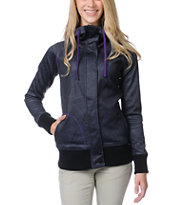 Empyre Girls Oracle Geo Print Black Tech Fleece Jacket