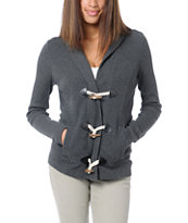 Empyre Girls Alexis Charcoal Thermal Hoodie