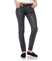 Empyre Girls Logan Black Metallic Skinny Jeggings