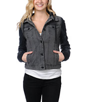 Dravus Girls Ashby Black Denim Vest Jacket