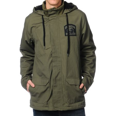 Metal Mulisha Sustain Green Hooded Jacket