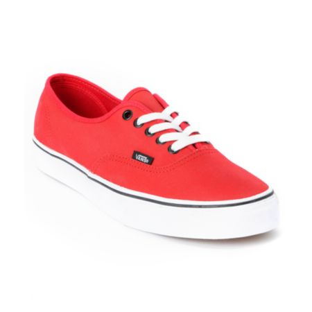 Vans Authentic Tough Poly Red Shoe