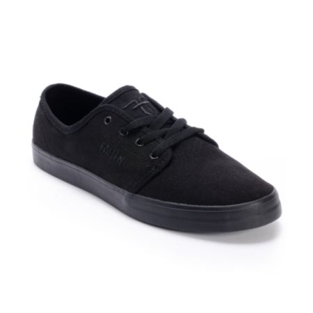 Fallen Daze Black & Black Skate Shoes