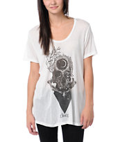Obey Girls Bryan Proteau Elevations White Beau Tee Shirt
