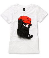 Obey Girls Comandante White Tee Shirt