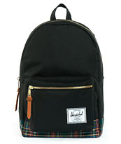 Herschel Supply Black Tartan Settlement Backpack