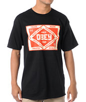 Obey Trademark Black Tee Shirt