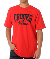 Crooks and Castles Core Logo Red Tee Shirt