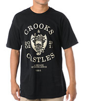 Crooks and Castles Decade Of Excellence Black Tee Shirt