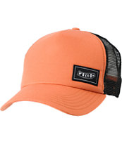 Volcom Girls Simple Stone Cheese Orange Snapback Hat