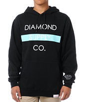 Diamond Supply Bar Logo Black Pullover Hoodie