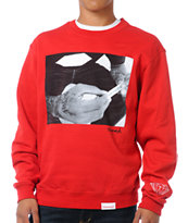 Diamond Supply Rollin Diamonds Red Crew Neck Sweatshirt