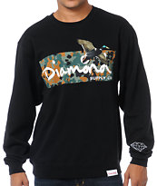 Diamond Supply Hunters Black Crew Neck Sweatshirt
