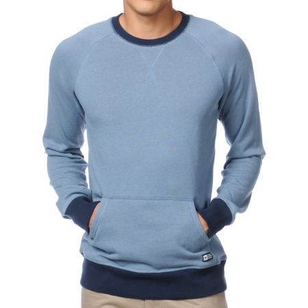 Analog Province Blue Crew Neck Sweatshirt