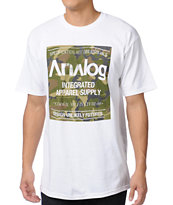 Analog Robbed Camo Block White Tee Shirt