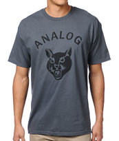 Analog Stray Cat Charocal Grey Tee Shirt