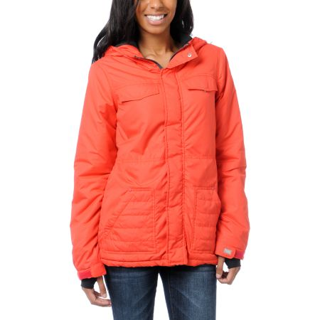 Billabong Girls Ramos Red Insulated Jacket