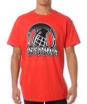 Grenade Amped Art Red Tee Shirt