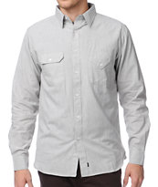 Matix x Diamond Supply Davis DMND Grey Long Sleeve Button Up Shirt