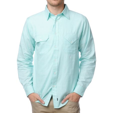 Matix x Diamond Supply Davis DMND Mint Button Up Shirt