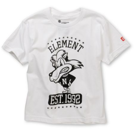 Element Boys Lion White Tee Shirt