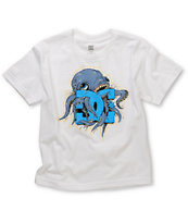 DC Boys Okatpi UV Ink White Tee Shirt