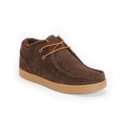 Ipath Cat Shearling Coffee Suede Shoe