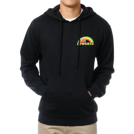 Odd Future Rainbow Cat Black Pullover Hoodie
