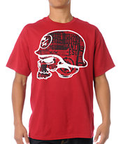 Metal Mulisha Surface Dark Red Tee Shirt