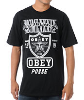 Obey Super Brawl Black Tee Shirt