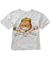 A-Lab Boys Baseballer Heather Grey Tee Shirt