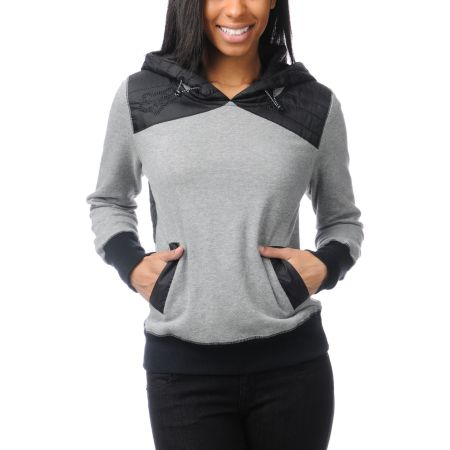 Fox Girls Trials Heather Graphite Pullover Hoodie