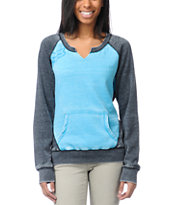 Fox Girls Potential Blue Crew Neck Sweatshirt