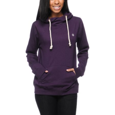 Element Girls Conrad Eggplant Purple Pullover Hoodie