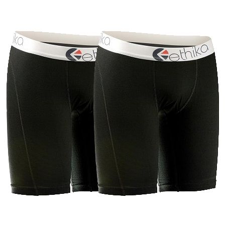 Ethika The Staple 2-Pack Black Boxer Briefs