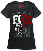 Fox Girls Zoom Charcoal Grey Tee Shirt